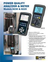 8230 with AmpFlex SR193-36 Single-Phase Power Quality Analyzers