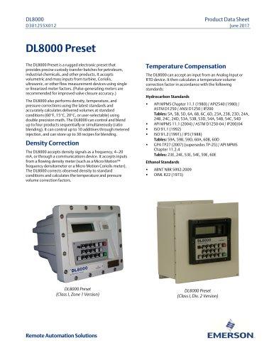 DL8000 - Emerson Automation Solutions - ROSEMOUNT - PDF Catalogs
