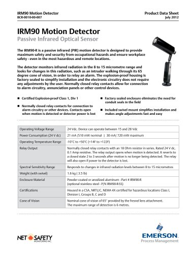 Explosion Proof Motion Detector - Emerson Automation Solutions