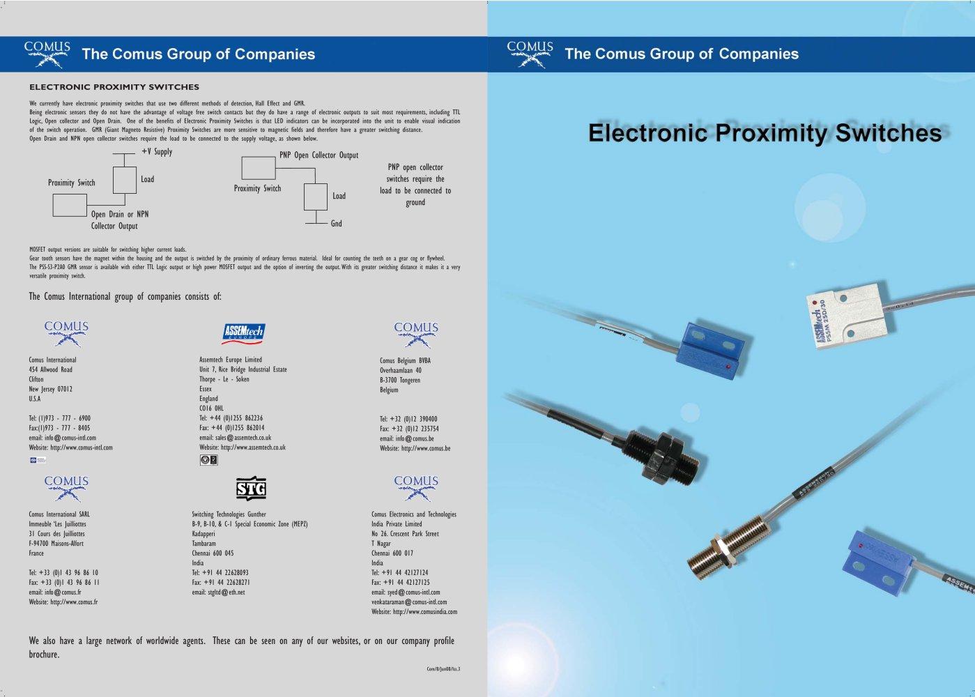 Electronic Proximity Switches - The Comus Group - PDF Catalogue ...