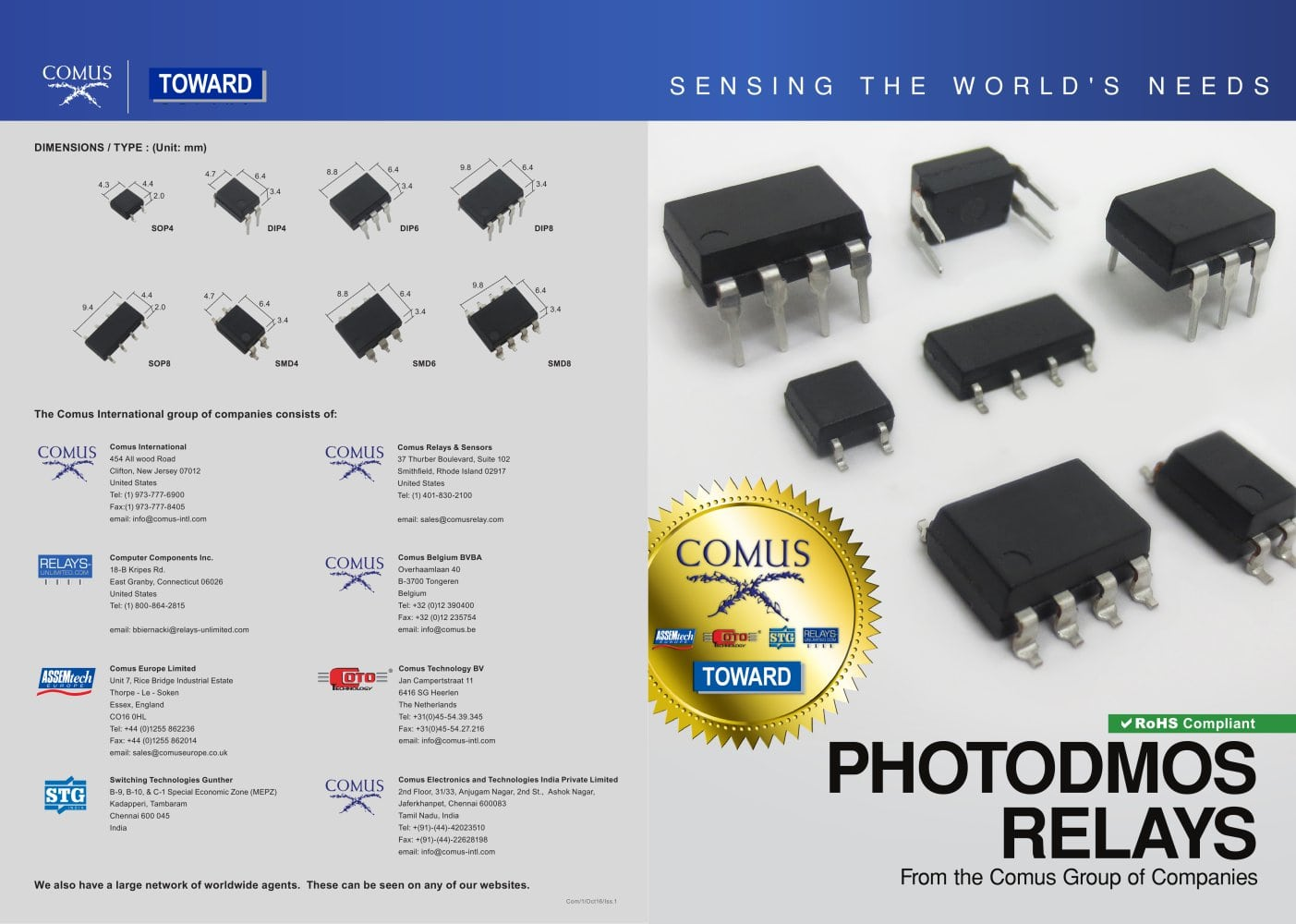 Photodmos Relays The Comus Group Pdf Catalogue Technical Electrical Relay Uk 1 2 Pages