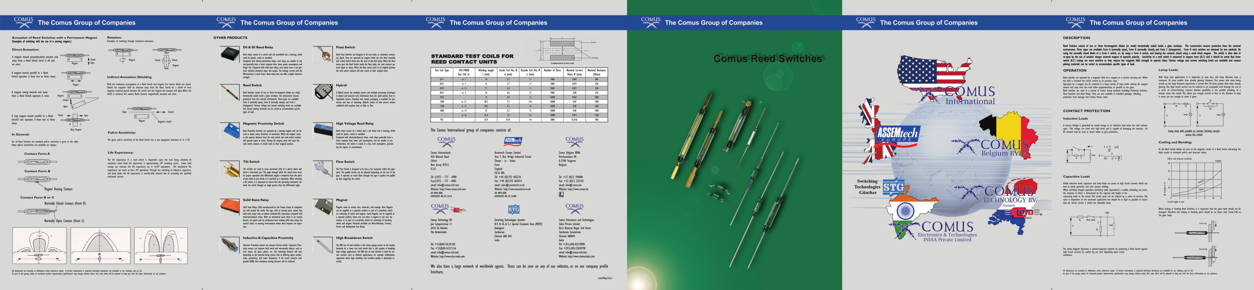 Reed Switches The Comus Group Pdf Catalogue Technical Magnetic Switch Wiring Diagram 1 2 Pages
