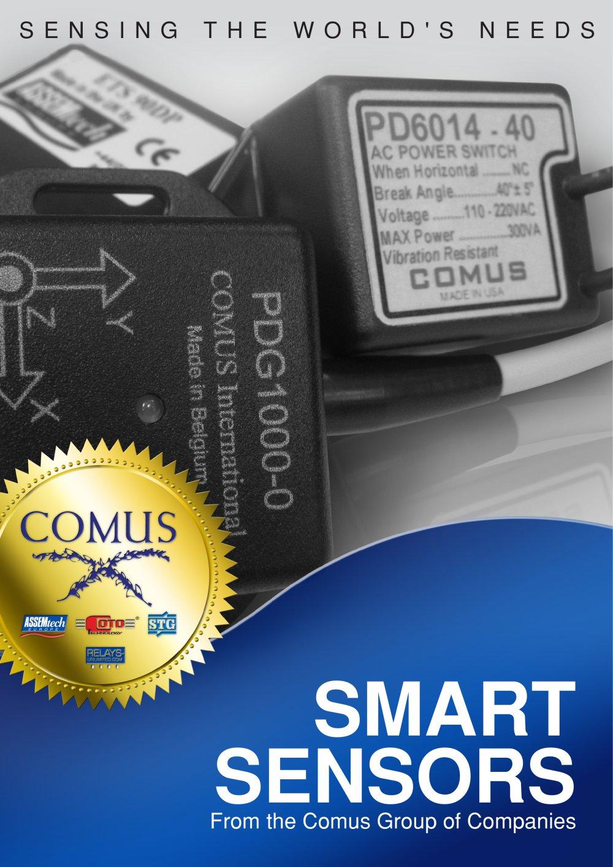 Smart Sensors The Comus Group Pdf Catalogue Technical Solutions Single Supply Shock Vibration Sensor Amplifier 1 8 Pages