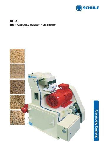 SH A High-Capacity Rubber Roll Sheller
