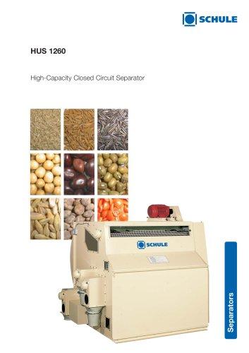 Sorting Machines: High-Capacity Closed Circuit Separator HUS 1260