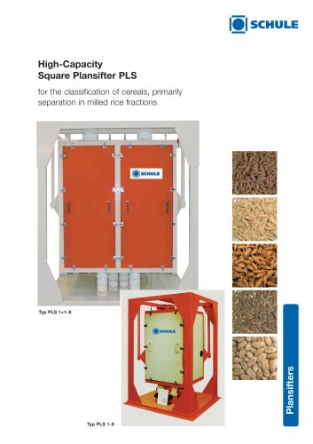 Sorting Machines: High-Capacity Square Plansifter PLS