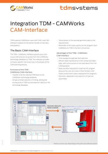 Interface TDM - CAMWorks - TDM Systems - PDF Catalogs   Technical