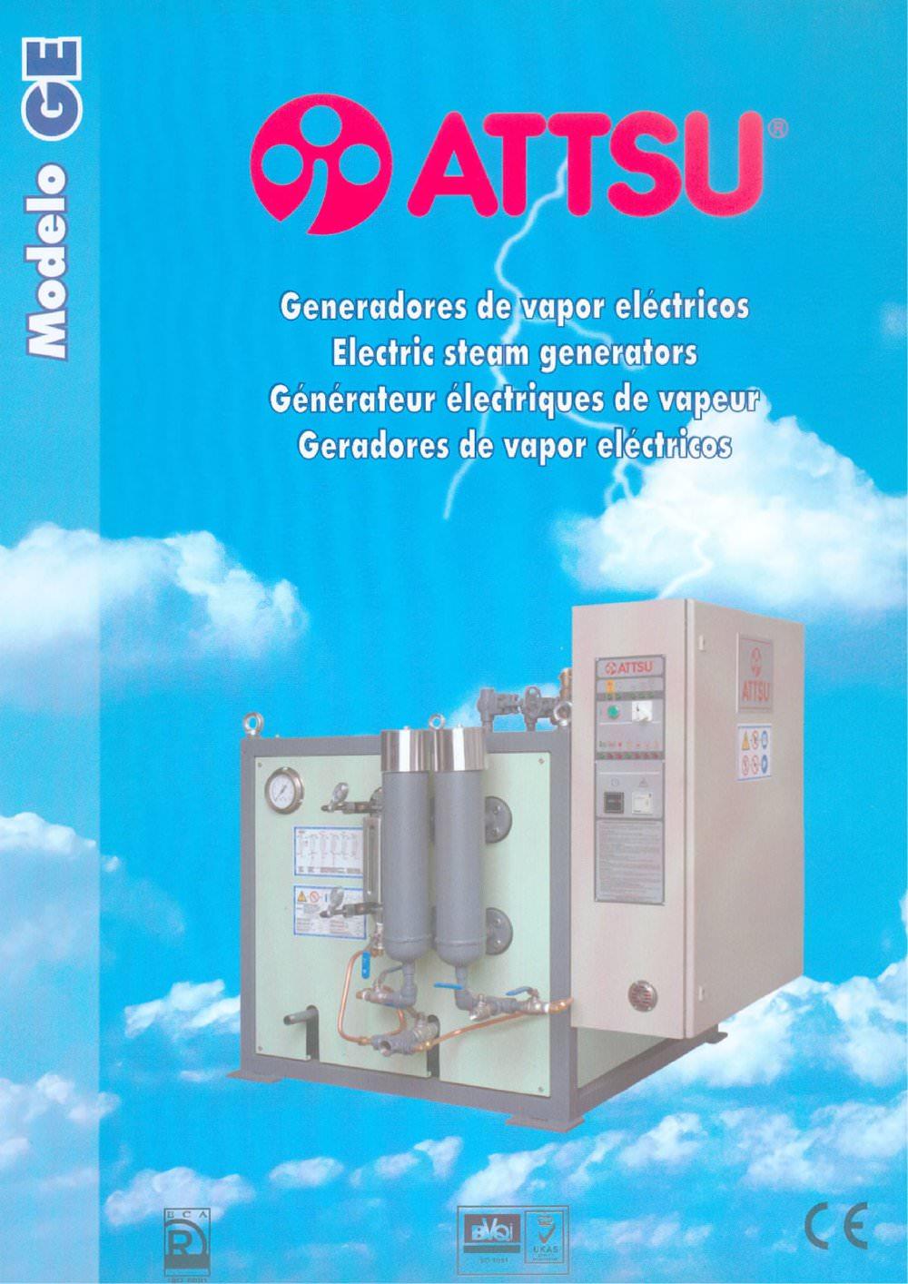 Model GE Electric Steam Generator - ATTSU TERMICA S.L. - PDF ...