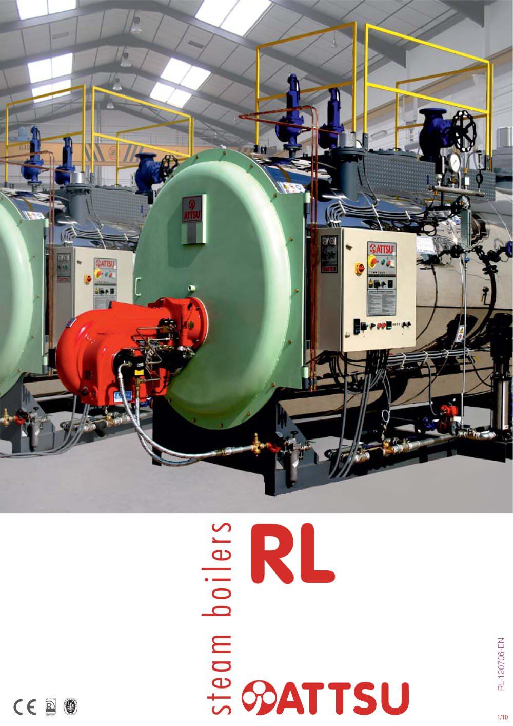 Steam boiler - RL - ATTSU TERMICA S.L. - PDF Catalogue | Technical ...