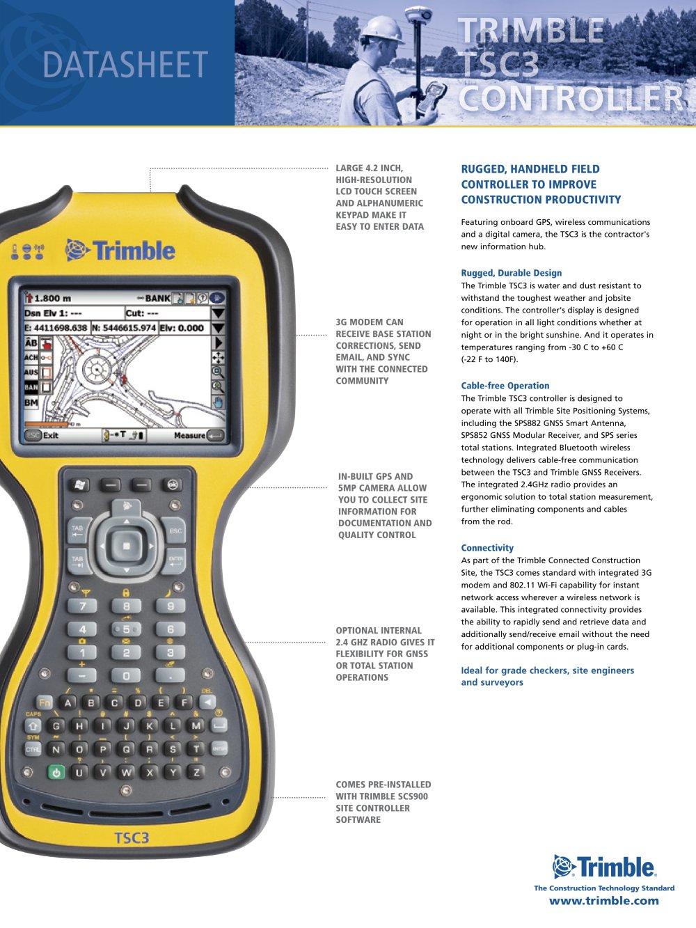 trimble tsc3 controller trimble navigation construction division rh pdf directindustry com trimble scs900 v3 user manual trimble scs900 site controller software manual