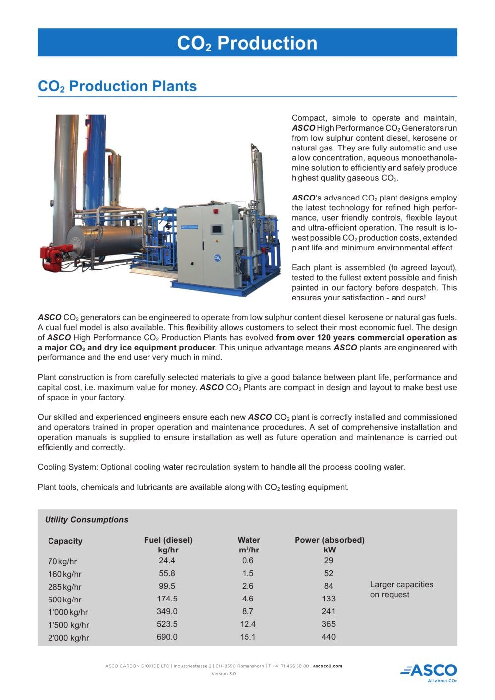 co2 production plants asco carbon dioxide pdf catalogue rh pdf directindustry com CO2 Generator for Plants CO2 Oil Extraction Plant