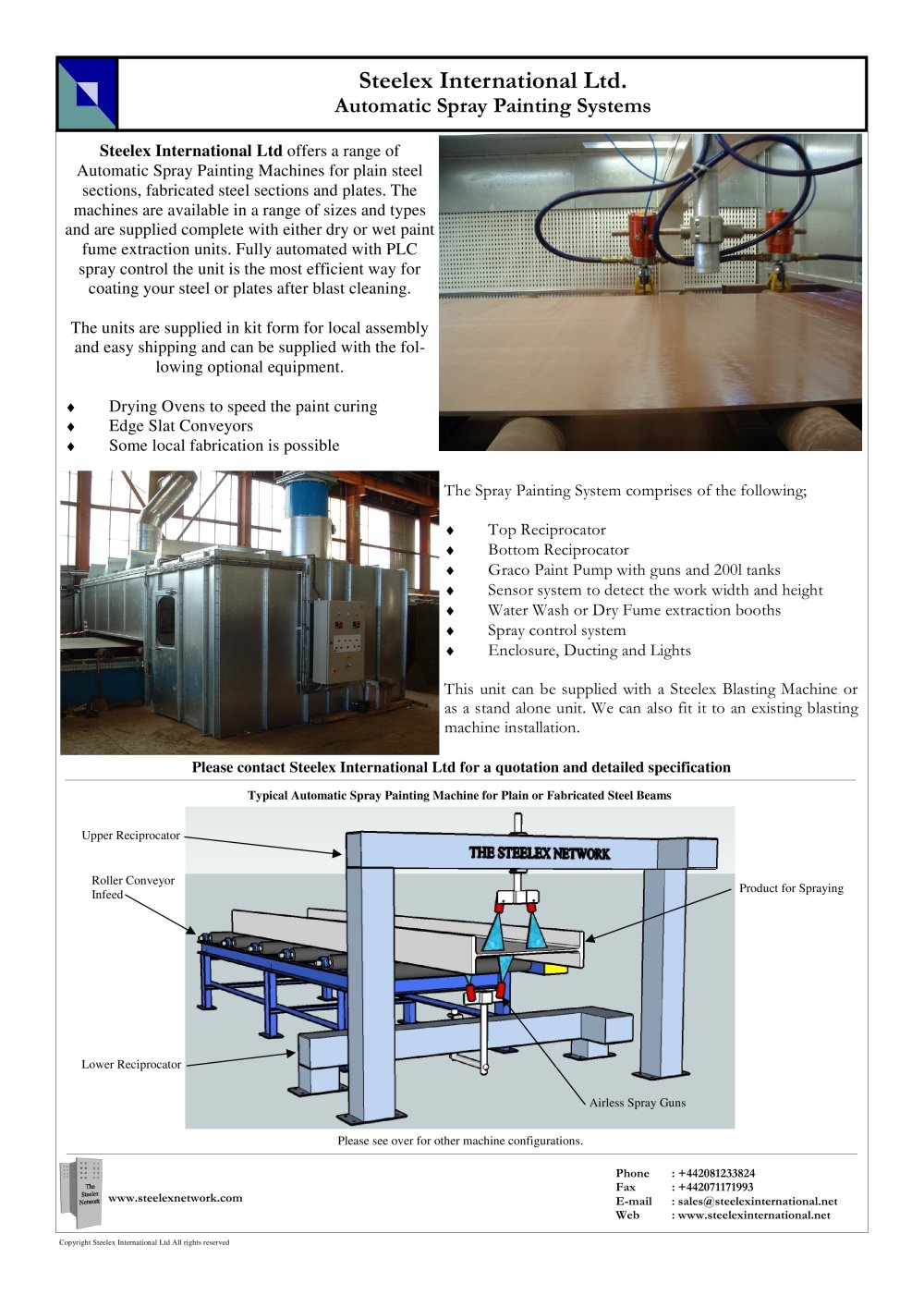 steelex automatic spray painting systems 1 2 pages