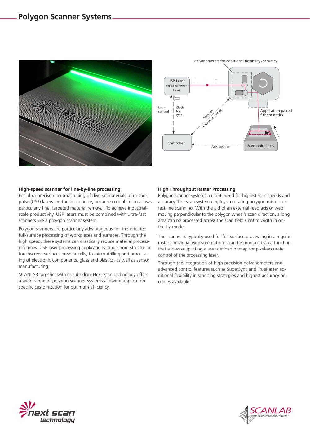 Polygon Gmbh polygon scanner systems nst scanlab scanlab gmbh pdf catalogue