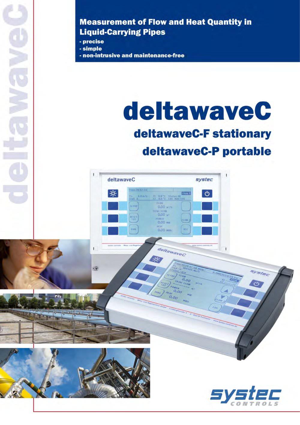 deltawaveC-P portable ultrasonic flow meter for liquids - systec ...