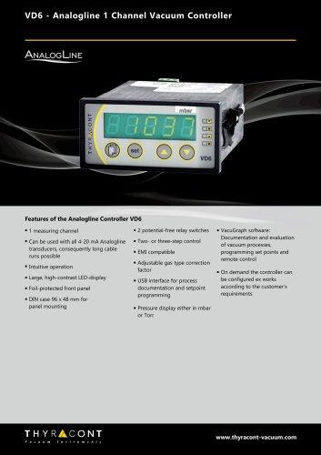 VD6 vacuum controller - Thyracont Vacuum Instruments GmbH - PDF