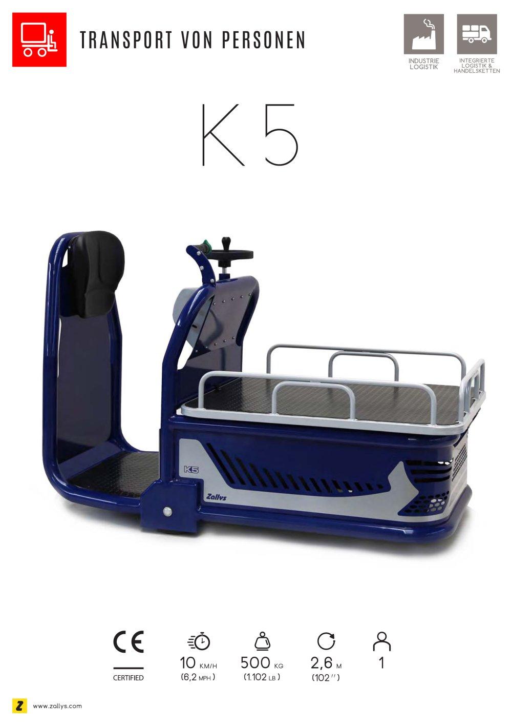 k5 elektro-kommissionierer mit batterienantrieb - zallys s.r.l.