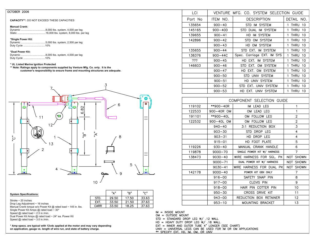 landing gear specifications 47378_1b landing gear specifications venture pdf catalogue technical wiring diagram for 5th wheel landing gear at bakdesigns.co