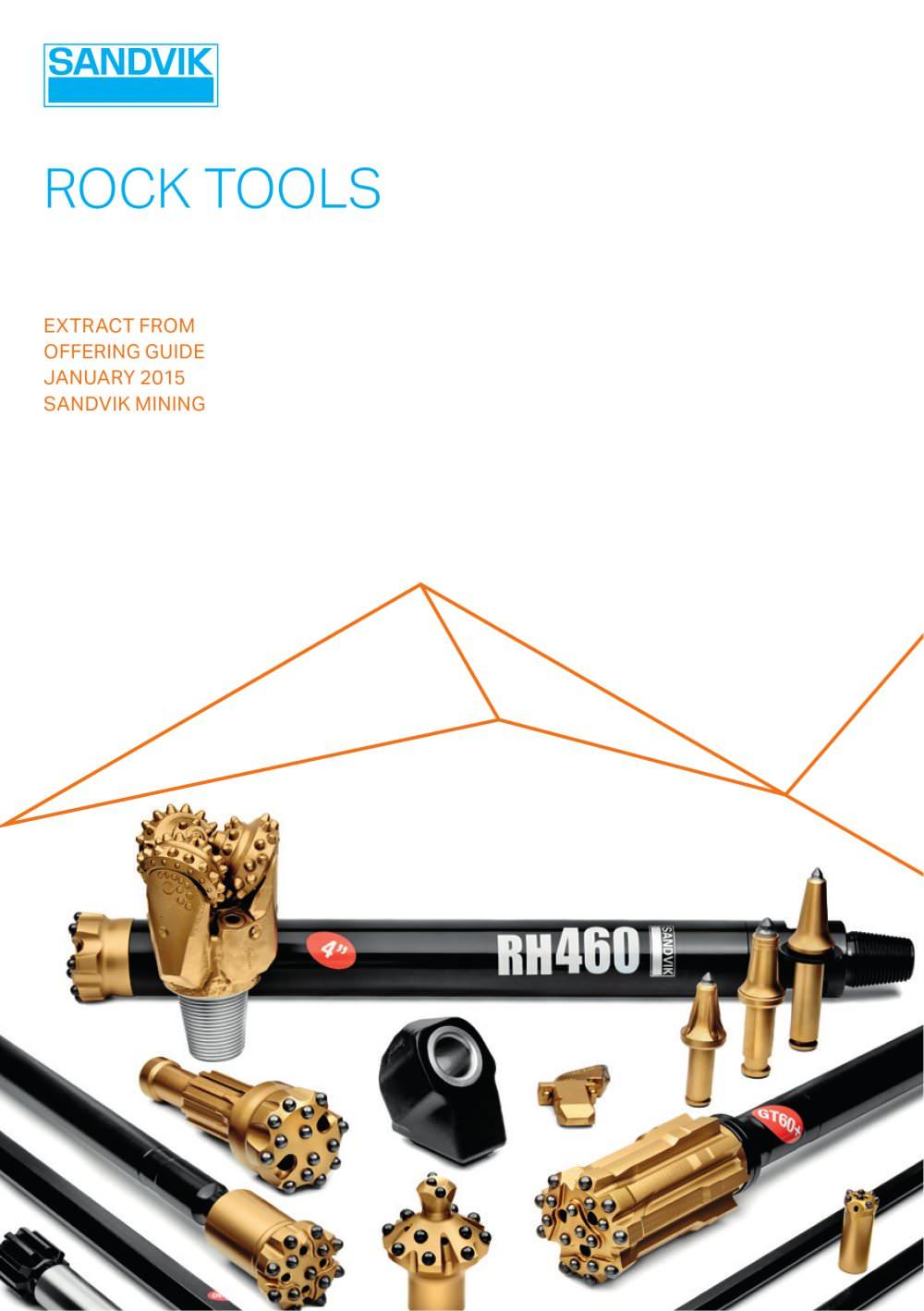 Sandvik mining rock tools