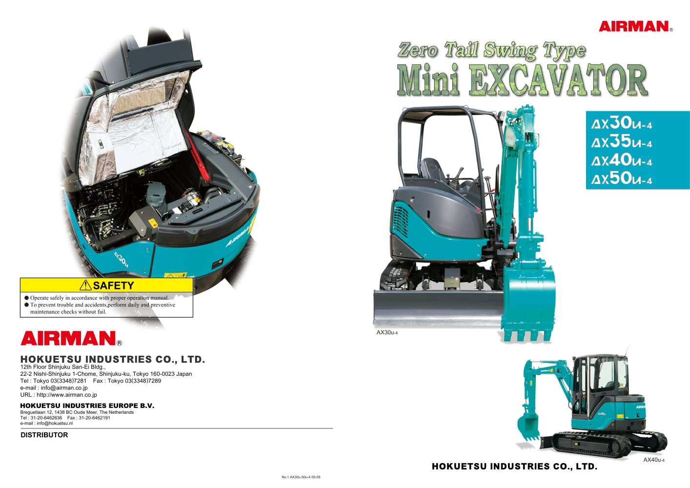 Mini Excavator Ax27u Ax30u Ax35u Ax40u Ax50u Airman Kubota Wiring Diagrams 1 6 Pages