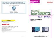 Silent Type Engine Generator