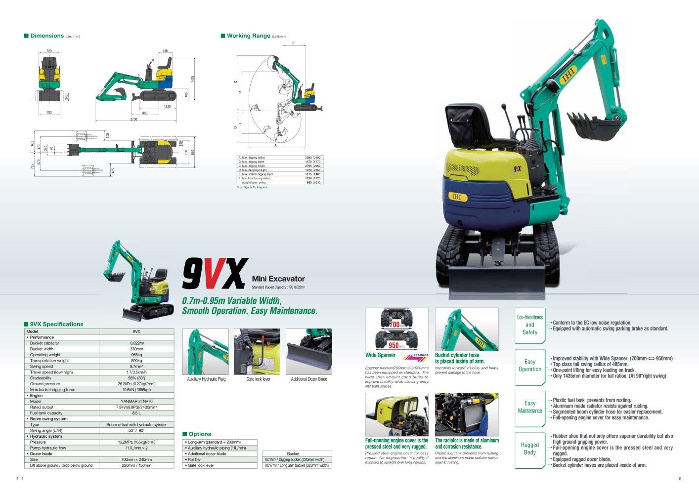 Mini Excavator 9VX