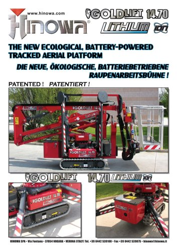 BATTERY-POWERED TRACKED AERIAL PLATFORM