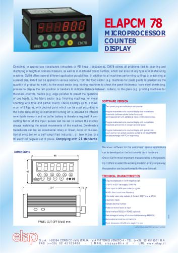 Programmable Counter CM78