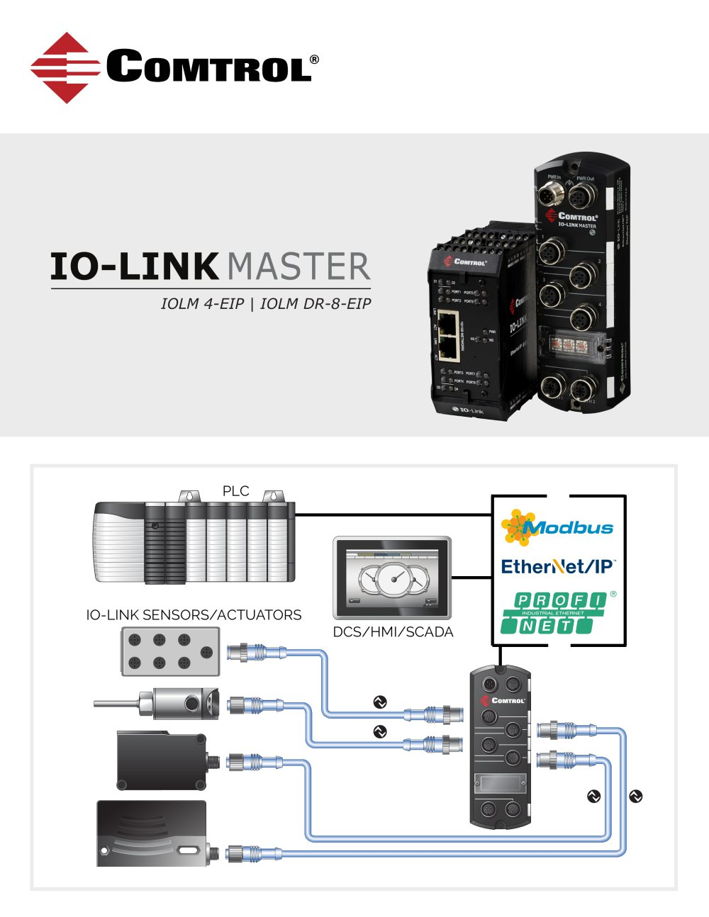 Io Link Master Comtrol Corporation Pdf Catalogue Technical Power Over Ethernet Rocketlinx Devicemaster Serial Device Server 1 4 Pages