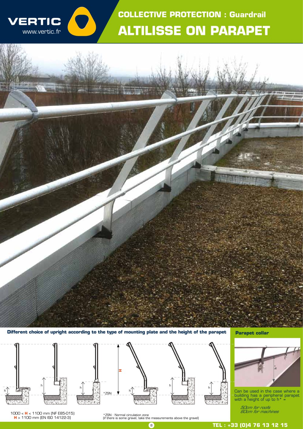 Parapets - what is it The height of the parapet. Parapet: photo