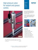 High pressure valve system for sealants and grease