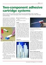 Two-component adhesive cartridge systems