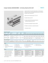 ADN/AEN/ADNGF Compact Cylinders  Inch Series, Based on ISO 21287