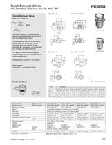 Quick-exhaust valves SE/SEU, NPT