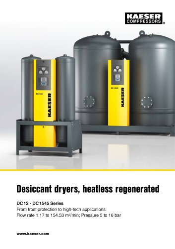 Desiccant dryers DC series