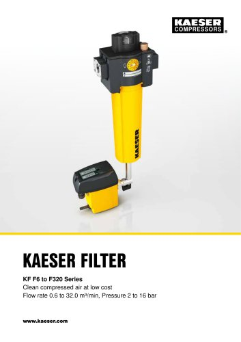 KAESER FILTER products: KF F6 to F320 series
