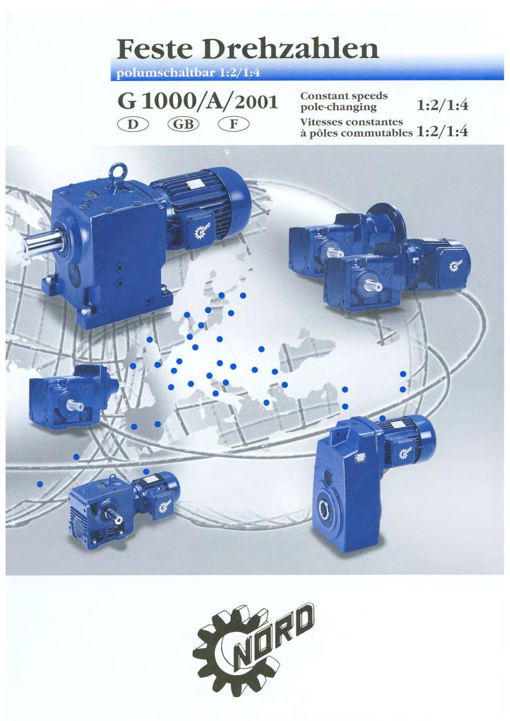Constant Speeds, 2-Speed Motors, 50Hz - Getriebebau NORD GmbH & Co ...