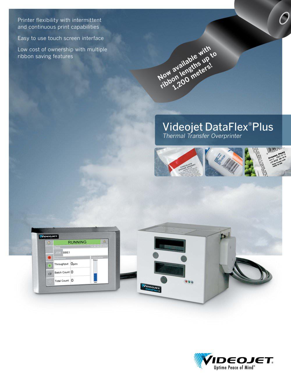 Videojet Dataflex Plus Datasheet - 1 / 4 Pages