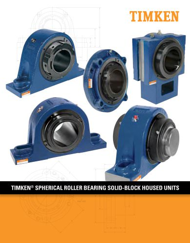 Timken Spherical Roller Bearing Solid-block Housed Unit Catalog