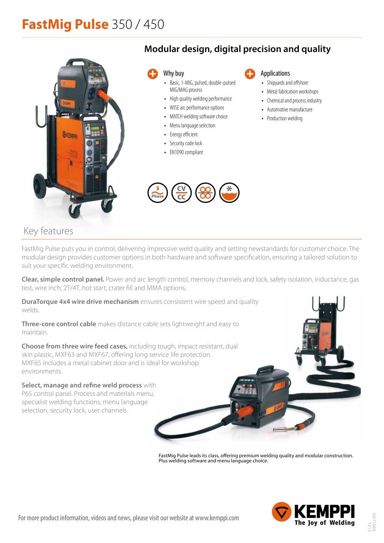 FastMig Pulse 350 / 450 - KEMPPI - PDF Catalogue | Technical ...