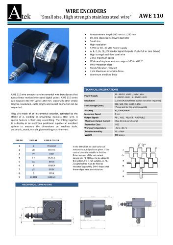 awe 110 series small size wire encoders