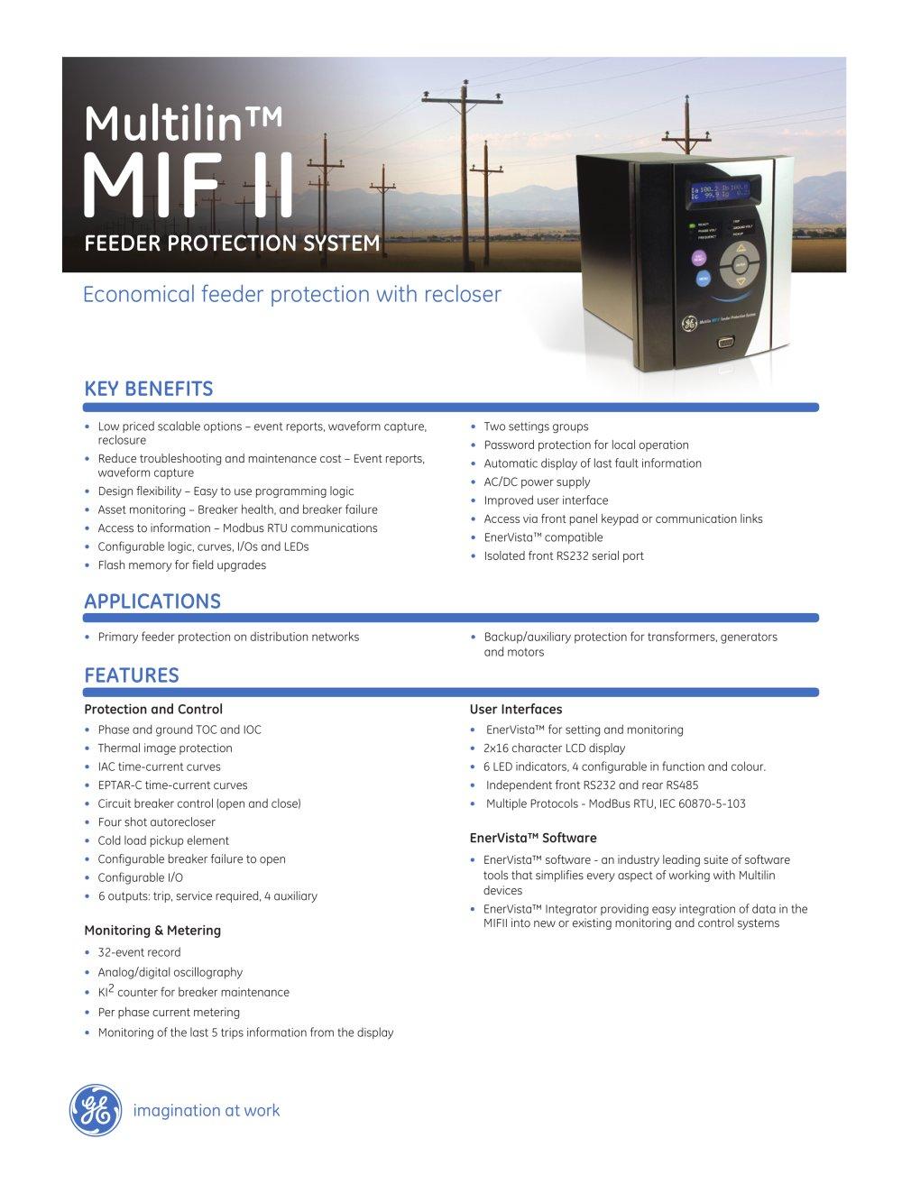 mif ii ge digital energy pdf catalogue technical documentation rh pdf directindustry com multilin mif ii digital feeder relay manual multilin mif ii digital feeder relay manual