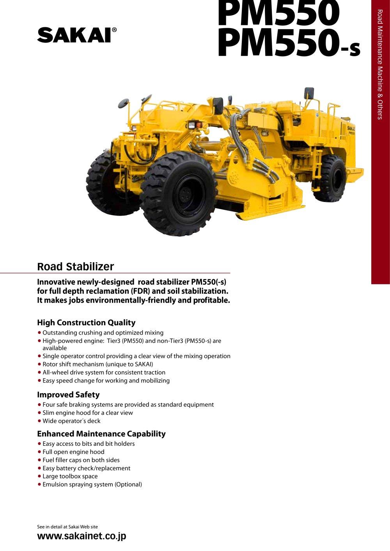 sakai gw750 service manual