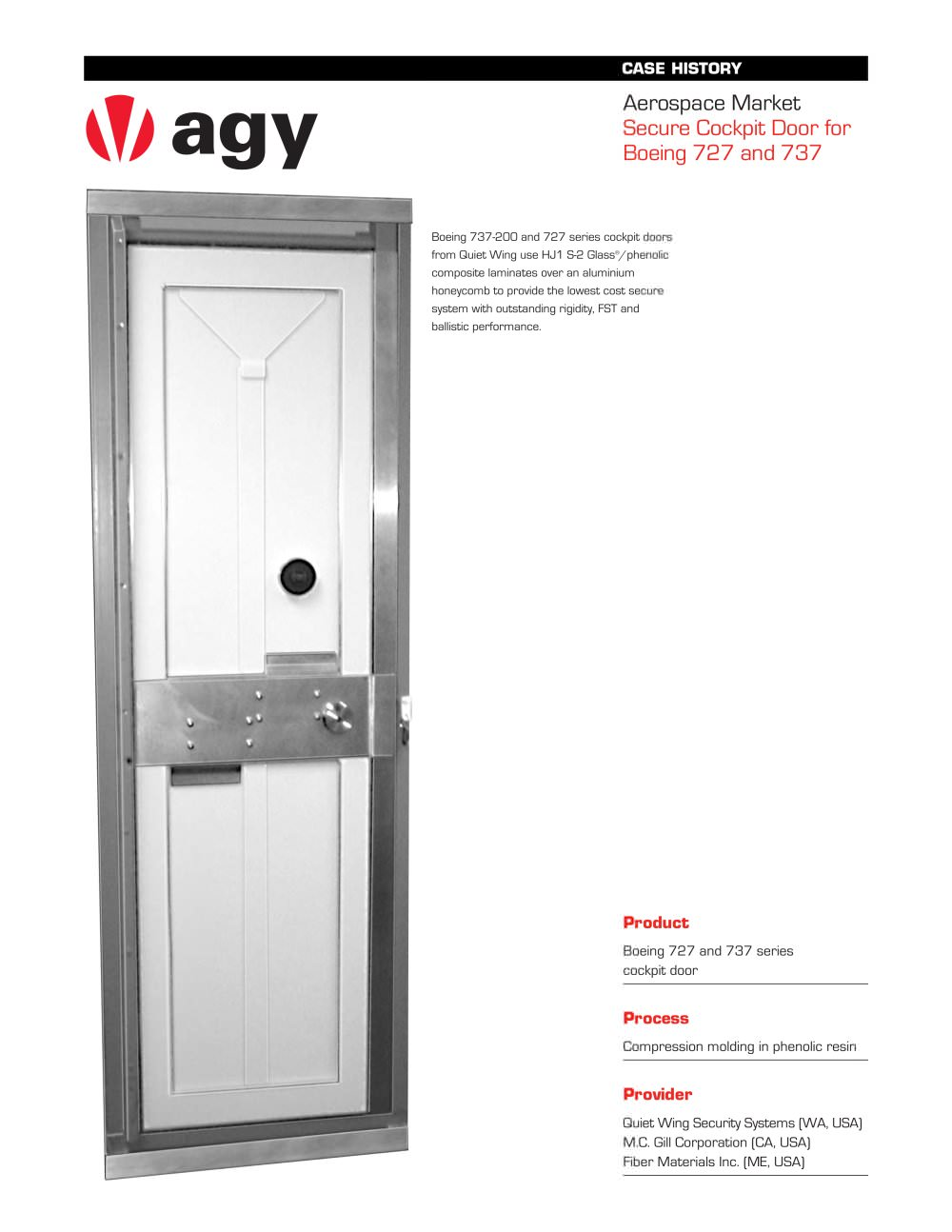 Secure Cockpit Door For Boeing 727 And 737 Agy Pdf Catalogue