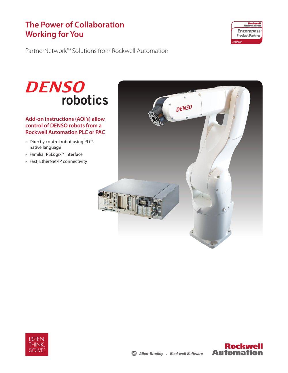 Encompass Partner - DENSO Robotics - Allen Bradley - PDF Catalogue ...