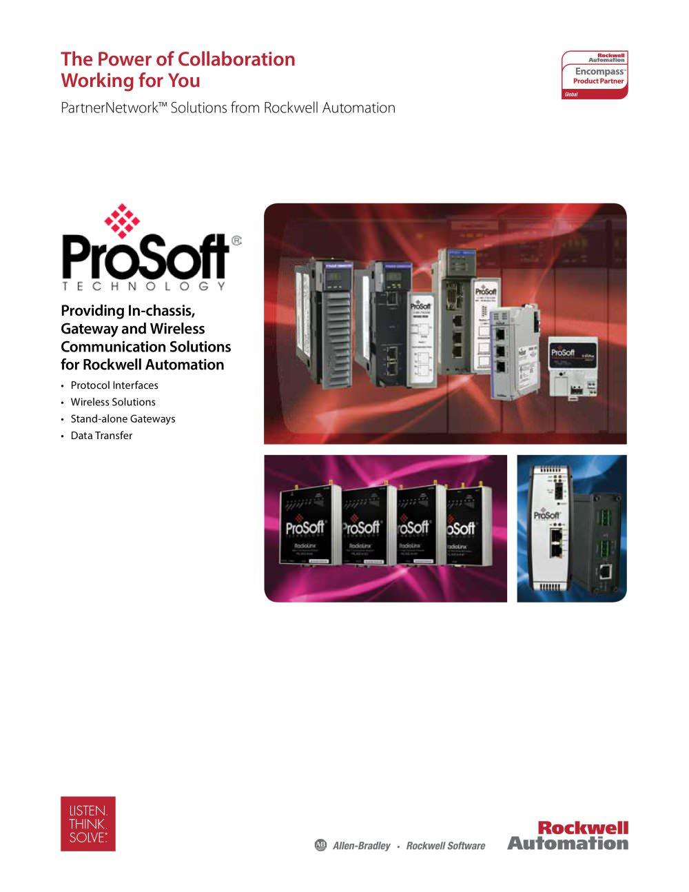 Encompass Partner - ProSoft Technology - Allen Bradley - PDF ...