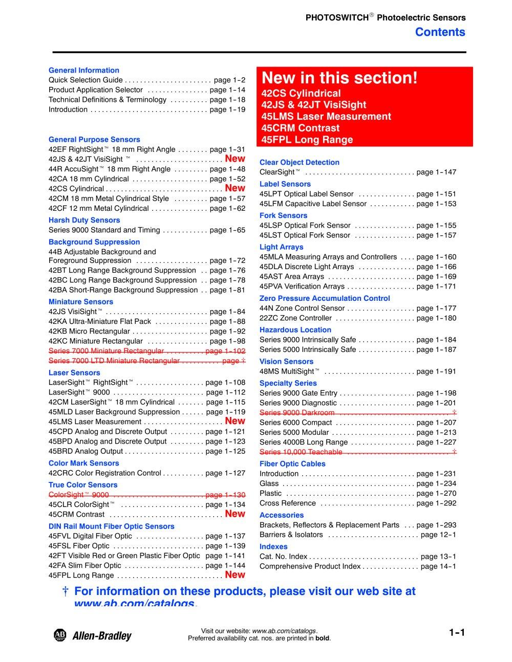 Photoelectric Sensors - Allen Bradley - PDF Catalogue | Technical ...