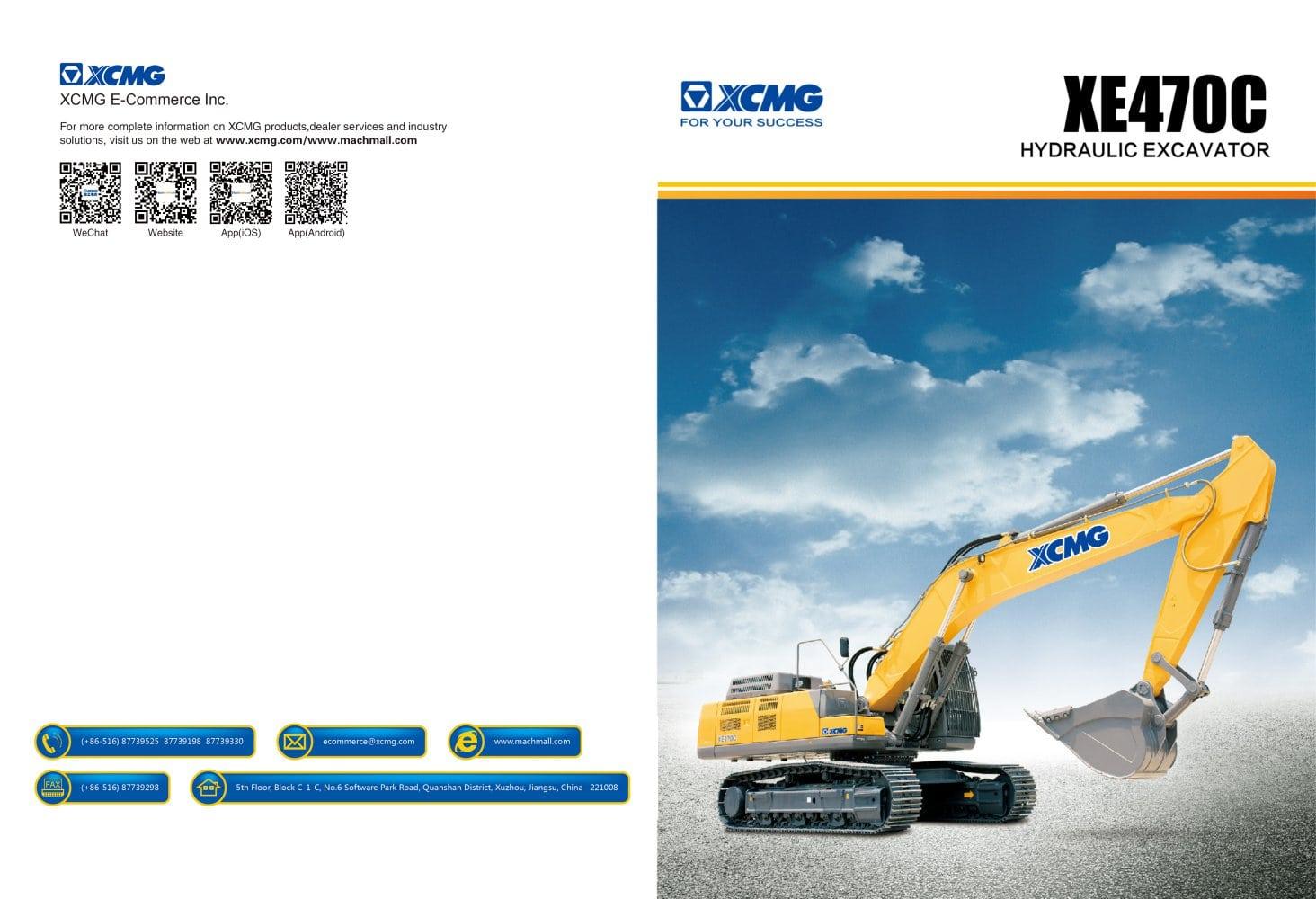 xcmg excavator xe470c construction xcmg pdf catalogs technical