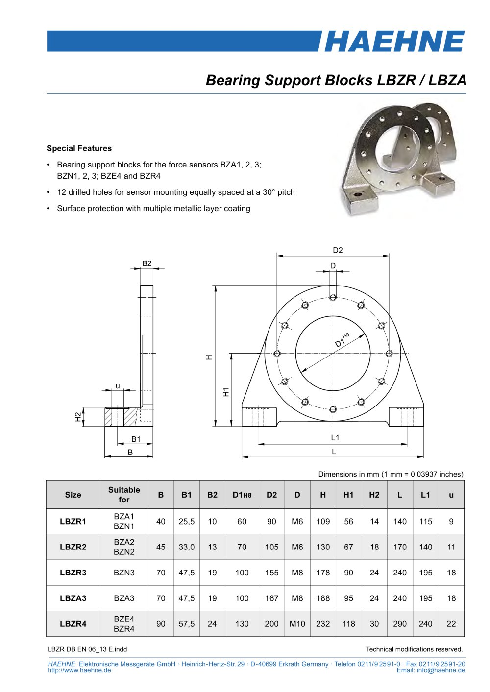 Bearing support lbzr haehne pdf catalogue technical bearing support lbzr 1 1 pages ccuart Image collections