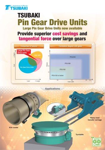 Tsubaki Large Pin Gear Drive Units - Tsubakimoto Chain - PDF