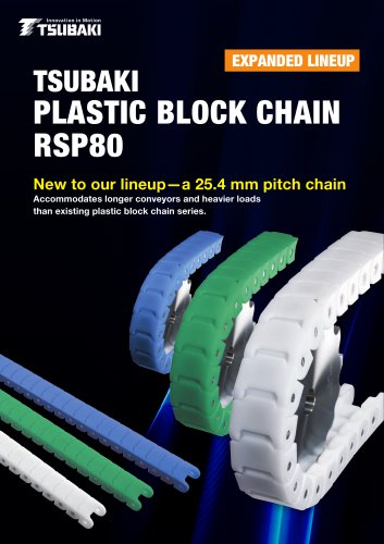 Tsubaki Plastic Block Chain RSP80 - Tsubakimoto Chain - PDF